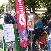 Braderie-Isly - challenge vélo 1 km = 1 euro