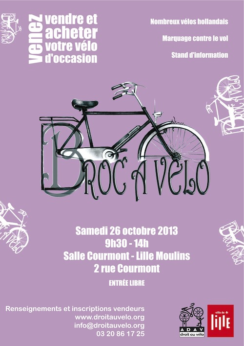 Broc à vélo Lille 2013 - ADAV - Vélos de l'Espoir