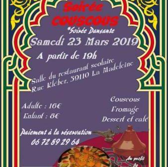 Couscous et soirée dansante – samedi 23 mars 2019